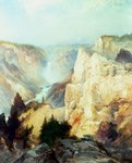 Grand Canyon of the Yellowstone Park Fine Art Print by Albert Bierstadt