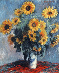 Still life with Sunflowers, 1880 Fine Art Print by Ignace Henri Jean Fantin-Latour