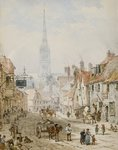 St Ann Street, Salisbury Wall Art & Canvas Prints by Thomas Shotter Boys