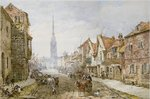 Castle Street, Salisbury Wall Art & Canvas Prints by Thomas Shotter Boys