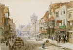 High Street, Salisbury, 1870 Wall Art & Canvas Prints by Thomas Shotter Boys