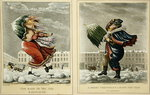 A Merry Christmas and a Happy New Year in London: And the Same to You, Sir, and Many of 'Em, engraved by G. Hunt, 1827 Fine Art Print by Janet and Anne Johnstone
