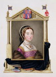 Portrait of Catherine Howard Fine Art Print by John Evan Hodgson