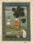 A Trans-Oxonian nobleman seated beneath a tree, from the Large Clive Album, c.1765 (gouache on paper) Wall Art & Canvas Prints by Mughal School