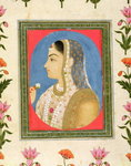 Portrait of a noble lady, from the Small Clive Album Fine Art Print by Mughal School