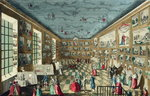 Perspective View of the Salon of the Royal Academy of Painting and Sculpture at the Louvre, Paris Poster Art Print by T. Rowlandson