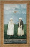 Two Muslim holy men, from the Small Clive Album Fine Art Print by Mughal School