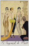 The Judgement of Paris, 1920-30 (pochoir print) Fine Art Print by Georges Barbier