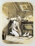 Avarice in the Kitchen, from a series of prints depicting the Seven Deadly Sins, c.1850 Poster Art Print by Anton Muller
