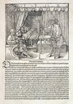Artist using Durer's drawing machine to paint a figure, from 'Course in the Art of Drawing' by Albrecht Durer, published Nuremberg 1525 Fine Art Print by Albrecht Durer or Duerer