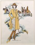 Lady's equestrian wear, 1921 (colour litho) Fine Art Print by Giuseppe or Joseph de Nittis