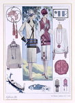 Fashion plate, from 'La femme chic' Fine Art Print by English School