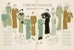 A Special Wardrobe, from a 'Vogue Pattern Book' c.1930 (colour litho) Wall Art & Canvas Prints by James Gillray