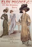 Fashion Advert for Eloy Mignot (colour litho) Wall Art & Canvas Prints by French School