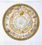 The Shield of Achilles, after the description in Homer's Iliad, 1815 (hand coloured engraving) Fine Art Print by Philipp Otto Runge