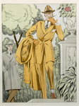 A Man's suit, hat and overcoat, from 'Style 1' published Berlin, 1922 Fine Art Print by French School
