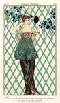 Evening dress, from 'Costumes Parisiens' 1913 (colour litho) Wall Art & Canvas Prints by French School