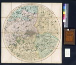 Froggett's Map of the Country Fifteen Miles around London, 1833 Fine Art Print by English School