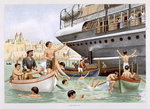 Malta, Heave for a Dive, from 'P & O Pencillings' Wall Art & Canvas Prints by W. Lloyd