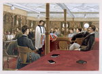 Sunday Morning, Divine Service in the Saloon, from 'P & O Pencillings' Fine Art Print by English School