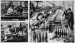 French women's share in the making of munitions: Women manipulating lathes and testing results in a French shell factory, from 'The Illustrated War News' Poster Art Print by English Photographer