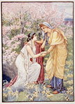Demeter rejoiced, for her daughter was by her side, illustration from The Story of Greece by Mary Macgregor, 1st edition, 1913 Fine Art Print by Evelyn De Morgan