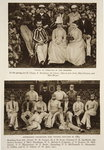 Tennis at Exmouth in the 80s and the Australian Cricket team who toured England in 1884, photographs from The Times Fine Art Print by English Photographer