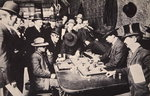 Playing Faro in the Orient Saloon at Bizbee, Arizona, 1903 Fine Art Print by Russian School