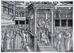 Latimer preaching before Edward VI, illustration from 'The History of the Nation' Fine Art Print by French School