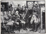 Washington and his Generals in consultation, March 15th 1783, illustration from Harper's Magazine, 1883 Fine Art Print by Howard Pyle