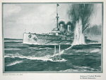 Sinking of a Turkish warship by a British submarine, from 'The Year 1915: a Record of Notable Achievements and Events', 1915 Fine Art Print by American School