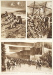 Discovered! Barbed wire cutters taking cover / Italians consolidating a captured trench / Mat screens for exposed roads: A device employed by the Italians advancing upon Gorizia Fine Art Print by Lady Butler
