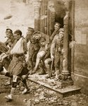 British soldiers in retreat from Mons Wall Art & Canvas Prints by English School