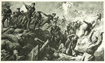 The Capture of the German trenches at Neuve Chapelle Wall Art & Canvas Prints by English School