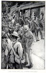 The little town was crowded with men, an illustration from 'With Roberts to Pretoria: A Tale of the South African War' by G.A. Henty, pub. London, 1902 Fine Art Print by Richard Caton Woodville