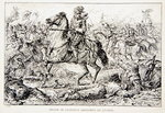 The Death of Gustavus Adolphus at Lutzen, an illustration from 'The Lion of the North: A Tale of the Times of Gustavus Adolphus and the Wars of Religion' by G.A. Henty, pub. London Fine Art Print by Louis Lejeune