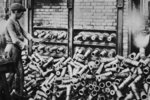 A 'National Industry' developing close co-operation in France and Great Britain: hardening shells in a French factory, from 'The Illustrated War News' Wall Art & Canvas Prints by French School