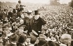 'I have only done my duty': Sergt. Michael O'Leary, V.C., at the Demonstration in his honour in Hyde Park, from 'The Illustrated War News' Wall Art & Canvas Prints by English Photographer