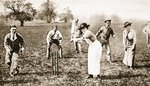 Nurses v. patients at the Isleworth Military Hospital: A Nurse at the Wickets, from 'The Illustrated War News' Wall Art & Canvas Prints by H Muggeridge