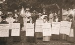 The Suffragettes of Ealing publicise a public demonstration to be held on Ealing Common on 1st June, 1912 Fine Art Print by Henri de Toulouse-Lautrec