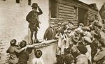 Child imitating Charlie Chaplin Fine Art Print by John Thomson