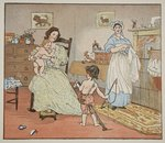 Bye, Baby Bunting, illustration from 'Hey Diddle Diddle and Bye, Baby Bunting', 1882 Fine Art Print by Peter Miller