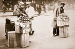 Jobless New Yorkers selling apples on the pavement, 1930 Postcards, Greetings Cards, Art Prints, Canvas, Framed Pictures, T-shirts & Wall Art by American Photographer