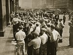 Longshoremen being picked out by a boss Poster Art Print by American Photographer