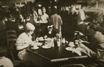 New York office workers lunching in a restaurant Wall Art & Canvas Prints by William Ireland