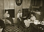 Residents of a Henry Street Tenement on the Lower East Side, Manhattan Wall Art & Canvas Prints by American Photographer