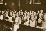 Girls in a classroom at one of Dr. Barnardo's homes, Barkingside Fine Art Print by John Thomson
