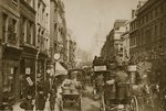 Fleet Street in 1880 Wall Art & Canvas Prints by English Photographer