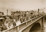 Monday morning 'rush hour' on London Bridge Wall Art & Canvas Prints by English Photographer