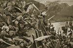 Crusaders storming Nicaea Postcards, Greetings Cards, Art Prints, Canvas, Framed Pictures & Wall Art by Charles Alexandre Debacq